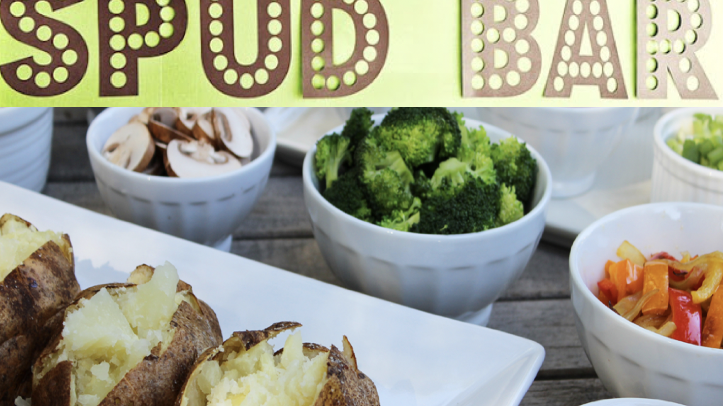 Baked Potato Bar: April 28th at 12:00 p.m.